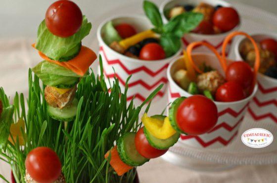 daržovių vėrinukai