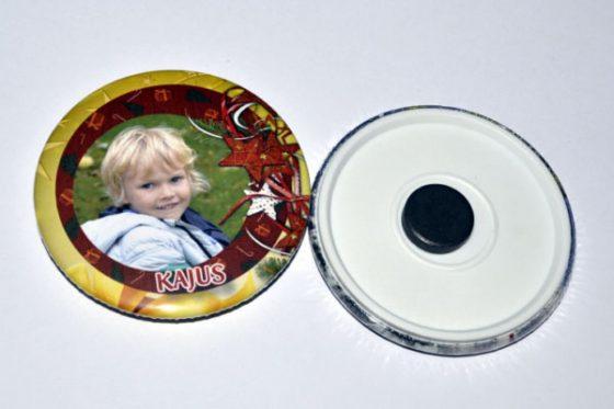 magnetukas ženkliukas su nuotrauka