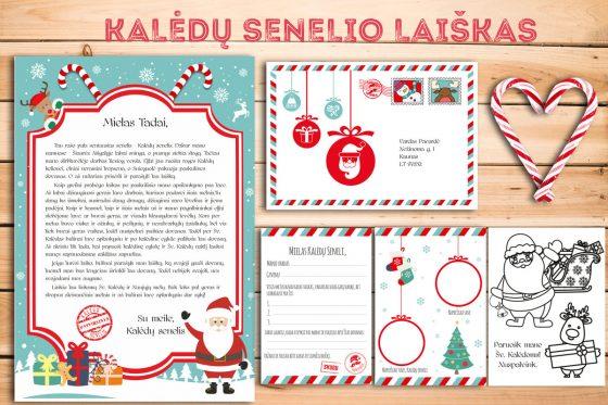 kalėdų senelio laiškas vaikams