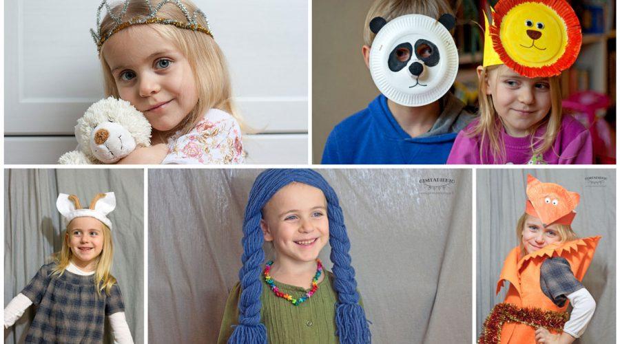 karnavalo kostiumai ir kaukės vaikams paprastos idėjos