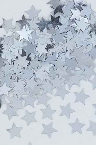 stalo konfeti žvaigždės
