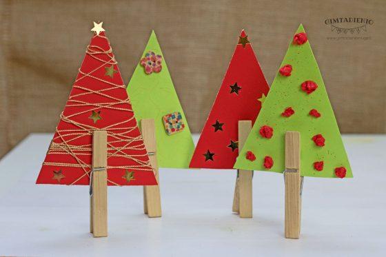 paprastos kalėdų eglutės darbeliai darželinukams