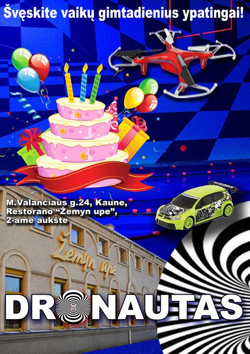 gimtadienis su dronais