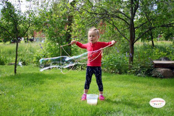 kaip pasidaryti lazdeles muilo burbulams leisti