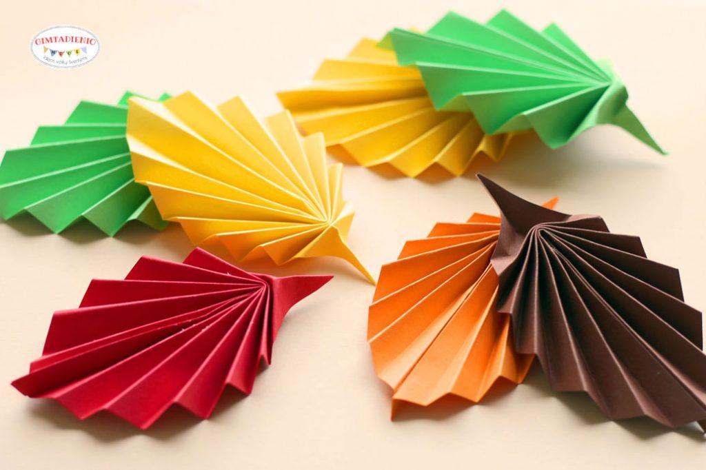 origami lankstiniai vaikams