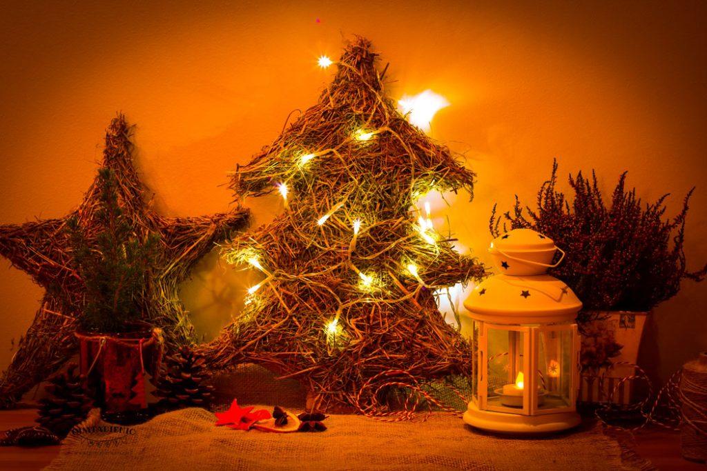 paprastos kalėdinės dekoracijos