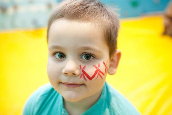 piešimas ant veido vaikams