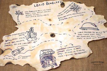 kaip padaryti sendintą lobių žemėlapį vaikams