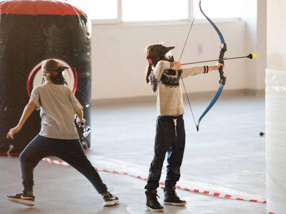 vaikų gimtadienis lankai sportas aktyvūs žaidimai