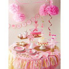 mergaitės gimtadienis balerinos tema