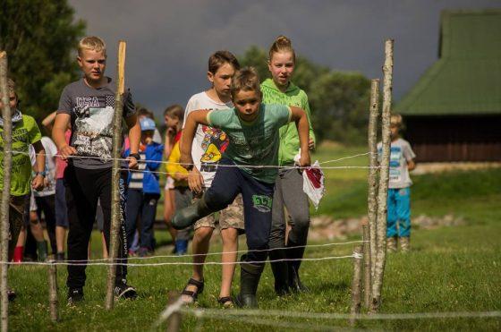 skautų vasaros stovykla vaikams