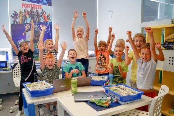 stovykla vaikams lego robotai konstravimas