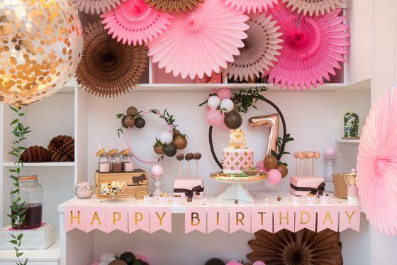 mergaitės gimtadienis šventinės dekoracijos