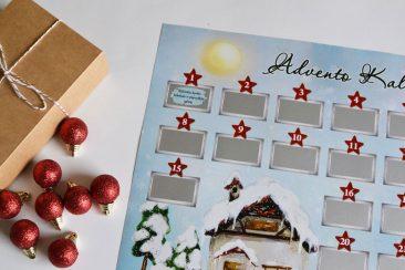 advento kalendorius su užduotėlėmis