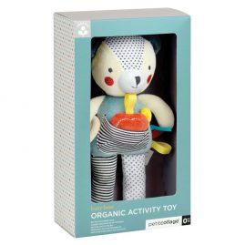 ekologiškas kūdikio žaislas meškiukas