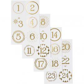 lipdukai su skaičiais advento kalendoriui