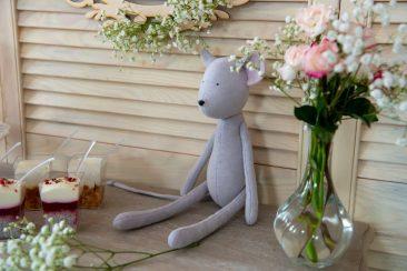 rankų darbo siūtas žaislas pelytė