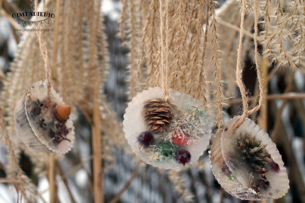 ledo dekoracijos žiemos mozaika