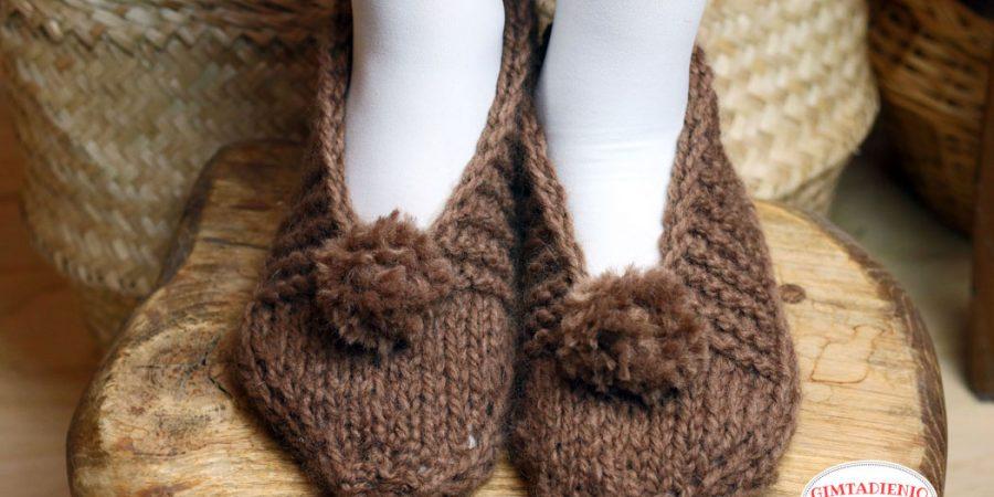megzti tapukai arba kaip greitai numegzti šlepetes