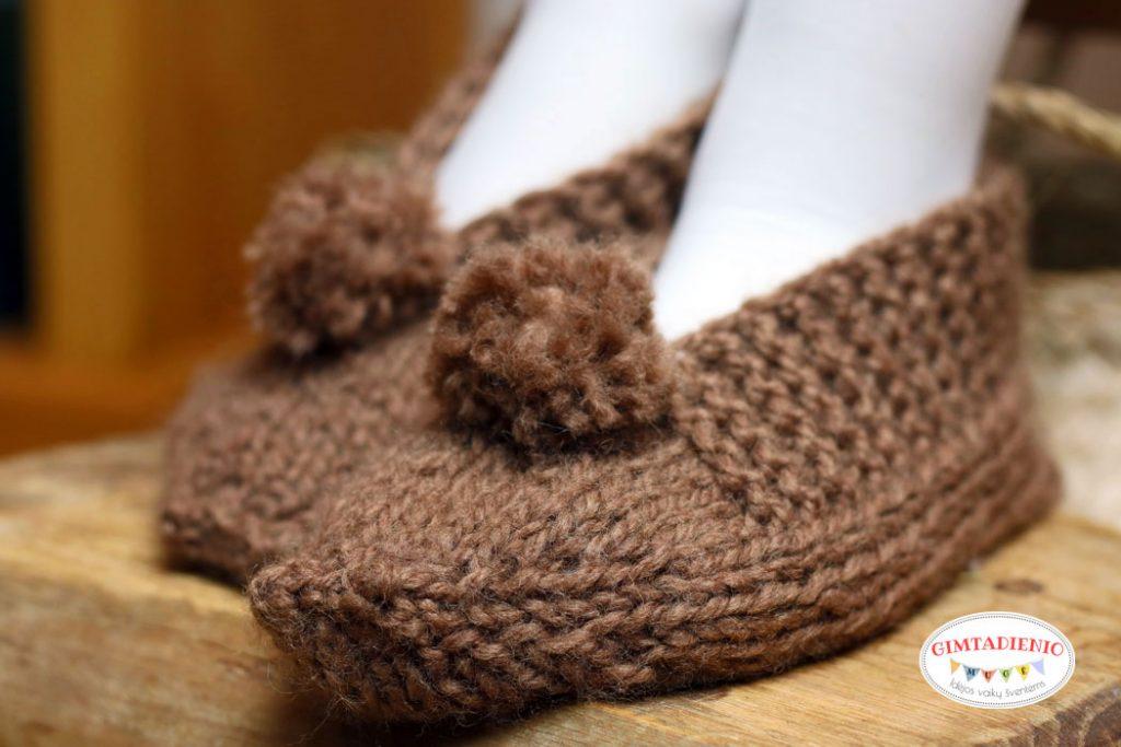 megztos šlepetės aprašymas kaip megzti