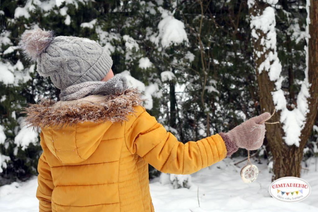 vaikų edukacija žiemą