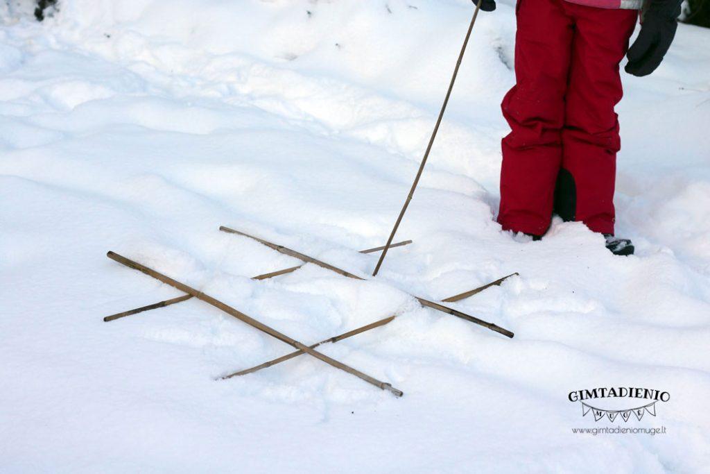 vaikų žiemos žaidimai ir veiklos lauke